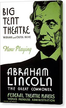 Abe Lincoln Wpa Poster Canvas Print by Paul Van Scott