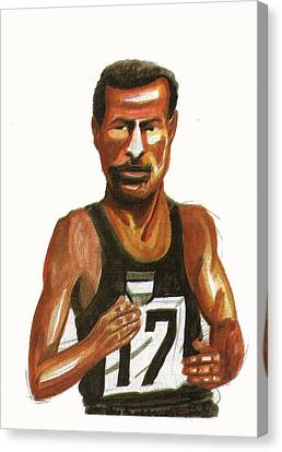 Abebe Bikila Canvas Print by Emmanuel Baliyanga