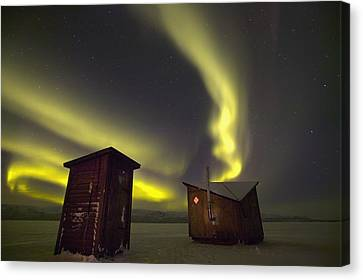 Abisko, Sweden. The Abisko Ark Hotel Canvas Print by Axiom Photographic