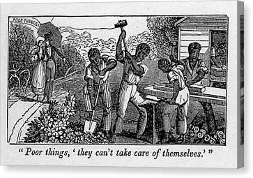 Abolitionist Cartoon Satirizing Slave Canvas Print by Everett