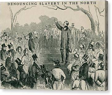 Abolitionist Canvas Print - Abolitionist Wendell Phillips Speaking by Everett