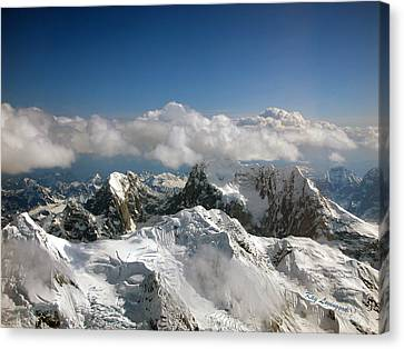 Canvas Print featuring the photograph Above Mckinley by Kay Lovingood