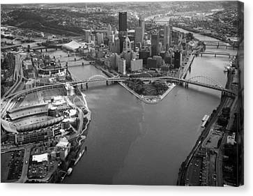 Above Pittsburgh  Canvas Print by Emmanuel Panagiotakis