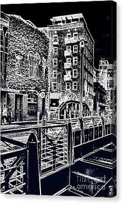 Canvas Print featuring the photograph Above The River-walk by Joe Finney