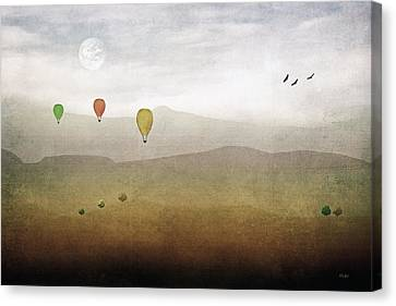 Above The Rolling Hills Canvas Print by Tom York Images