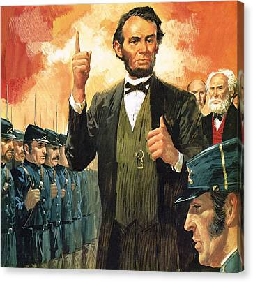 Abraham Lincoln Canvas Print by English School