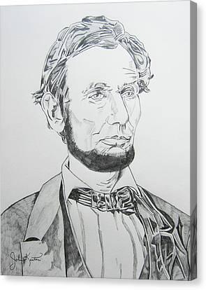 Abraham Lincoln Canvas Print by John Keaton