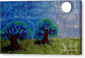 Canvas Print featuring the painting Abres De La Lune by Ayasha Loya