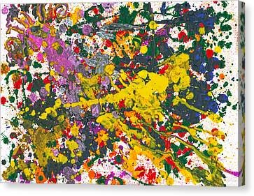 Abstract - Crayon - One Evening At The Diner Canvas Print by Mike Savad
