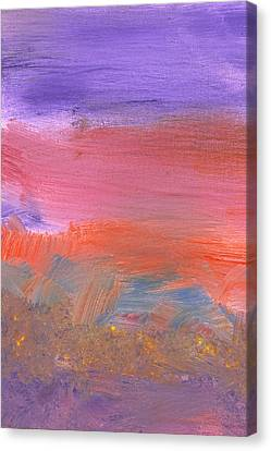 Abstract - Guash - Lovely Meadows 2 Of 2 Canvas Print by Mike Savad