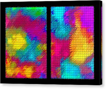 Abstract - Ripples Diptych Canvas Print by Steve Ohlsen