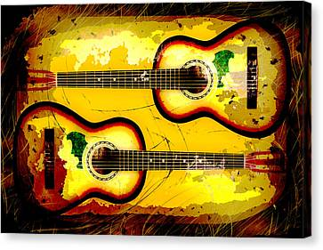Abstract Acoustic Canvas Print by David G Paul