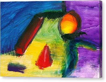Abstract - Acrylic - Primitives Canvas Print by Mike Savad