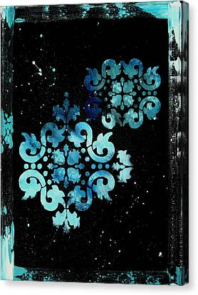 Abstract Art Original Decorative Painting Mysterious By Madart Canvas Print by Megan Duncanson