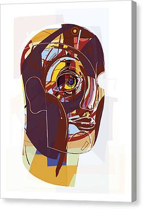 Abstract Artwork Of A Person's Face Canvas Print by Paul Brown