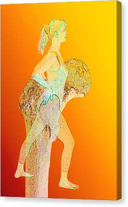 Abstract Artwork Of Osteoporosis Affecting Woman Canvas Print by David Gifford