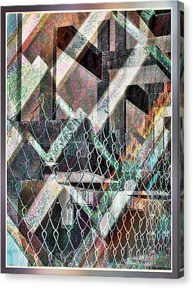 Canvas Print featuring the digital art Abstract Concrete by Ginny Schmidt