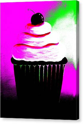Abstract Cupcakes By Shawna Erback Canvas Print by Shawna Erback
