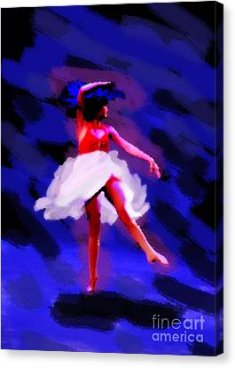 Abstract Dancer Canvas Print by Val Armstrong