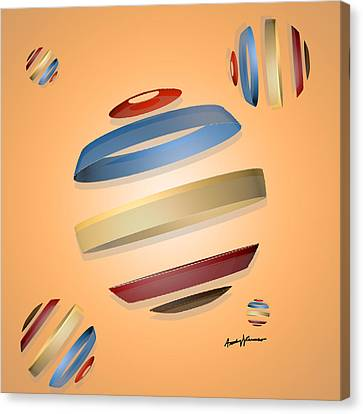 Abstract Design 9 Canvas Print by Anthony Caruso