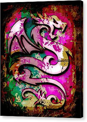 Abstract Dragon Canvas Print by David G Paul