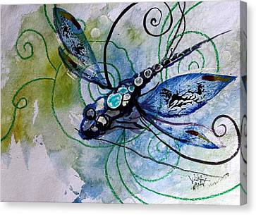 Abstract Dragonfly 10 Canvas Print by J Vincent Scarpace