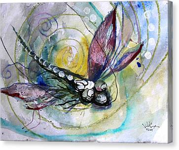 Abstract Dragonfly 11 Canvas Print by J Vincent Scarpace