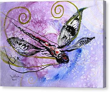Abstract Dragonfly 6 Canvas Print by J Vincent Scarpace