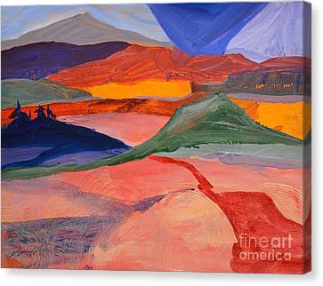 Abstract Fields Canvas Print by Barbara Tibbets