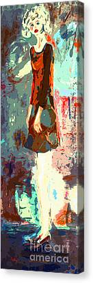 Abstract Figure The Odd Girl By Ginette Canvas Print by Ginette Callaway