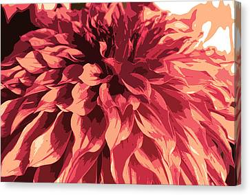 Abstract Flower 13 Canvas Print by Sumit Mehndiratta