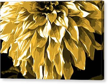 Abstract Flower 4 Canvas Print by Sumit Mehndiratta