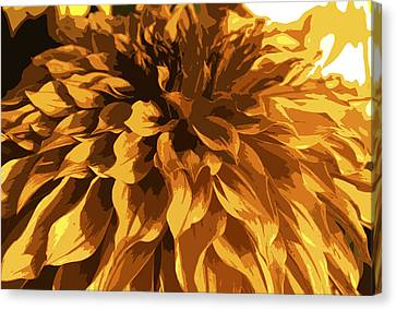 Abstract Flowers 14 Canvas Print by Sumit Mehndiratta
