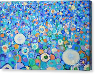 Abstract Flowers Field Canvas Print by Ana Maria Edulescu