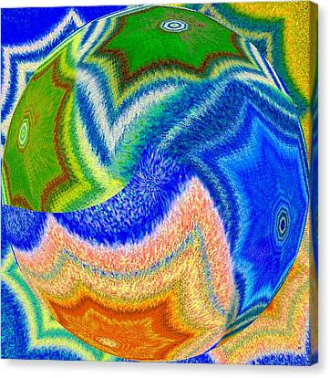 Canvas Print featuring the digital art Abstract Fusion 155 by Will Borden