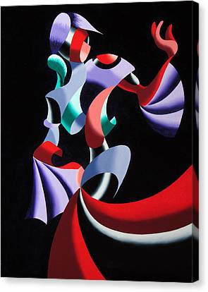 Abstract Geometric Futurist Figurative Oil Painting Canvas Print