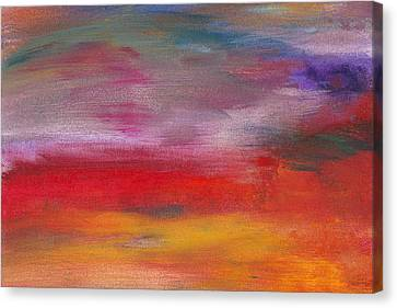 Hot Pink Custom Canvas Print - Abstract - Guash And Acrylic - Pleasant Dreams by Mike Savad