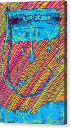 Abstract Handbag Drips Color Canvas Print