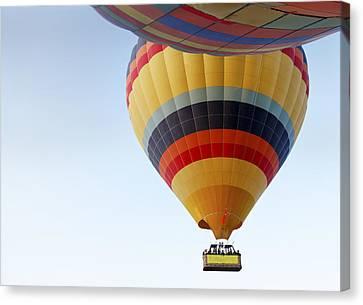 Abstract Hot Air Balloons Canvas Print by Kantilal Patel