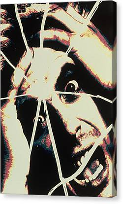 Abstract Image Of Man With Shattered Personality Canvas Print by Victor De Schwanberg