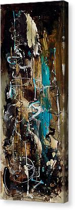 Abstract In Blue And Brown Canvas Print