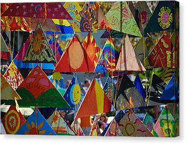 Abstract In Triangles Canvas Print by Peggy Zachariou