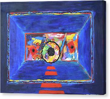Canvas Print featuring the painting Abstract Interior by Karin Eisermann