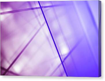 Abstract Intersecting Lines On A Glass Surface Canvas Print by Ralf Hiemisch