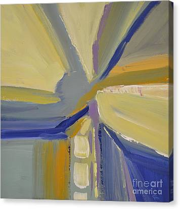 Abstract Intersection Canvas Print by Barbara Tibbets