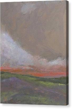 Abstract Landscape - Scarlet Light Canvas Print by Kathleen Grace