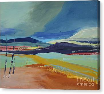 Abstract Landscape No.1 Canvas Print by Barbara Tibbets