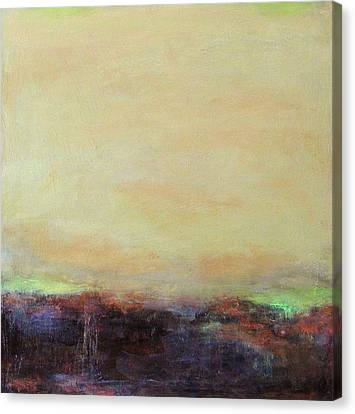 Abstract Landscape - Rose Hills Canvas Print by Kathleen Grace