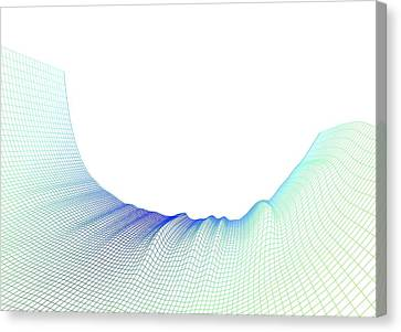Abstract Line Pattern Canvas Print by Pasieka