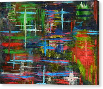 Canvas Print featuring the painting Abstract Lines by Everette McMahan jr